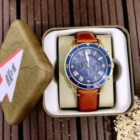 Đồng hồ Fossil Grant Blue Dial Leather Strap Mens  FS5268 - Ms: 114550