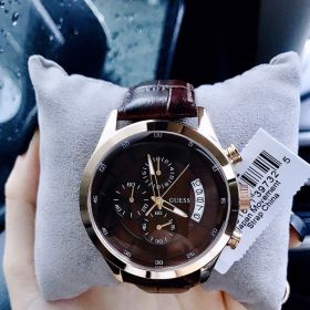 Đồng hồ GUESS CHRONOGRAPH DARK BROWN W14052G2