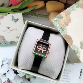 Olivia Burton Vintage Bow Black - Rose Gold Watch OB16VB03-Ms: 085600
