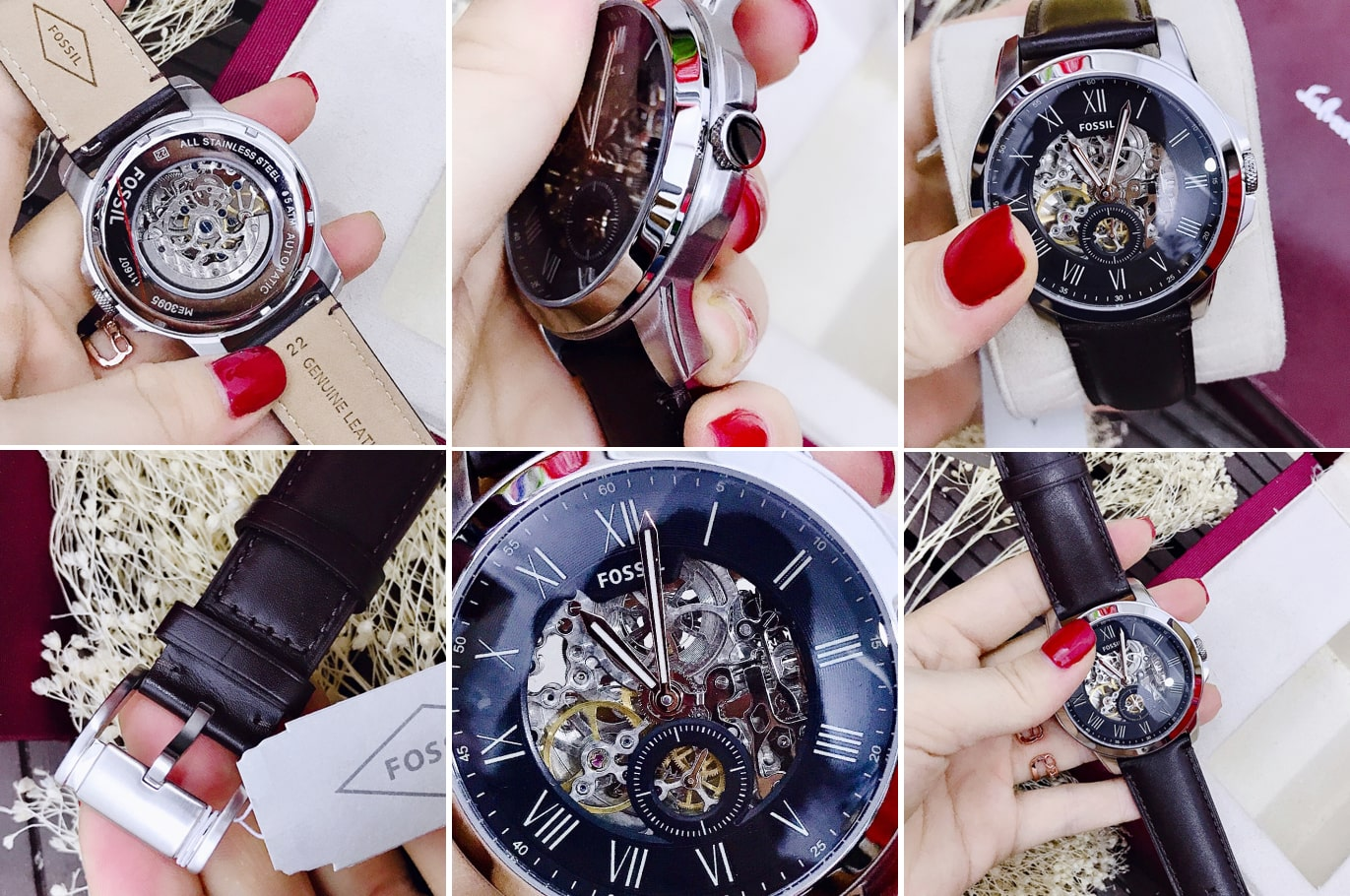 Hinh anh thuc te dong ho OSSIL Grant Skeleton Dial Mens Automatic ME3095 ms 196700
