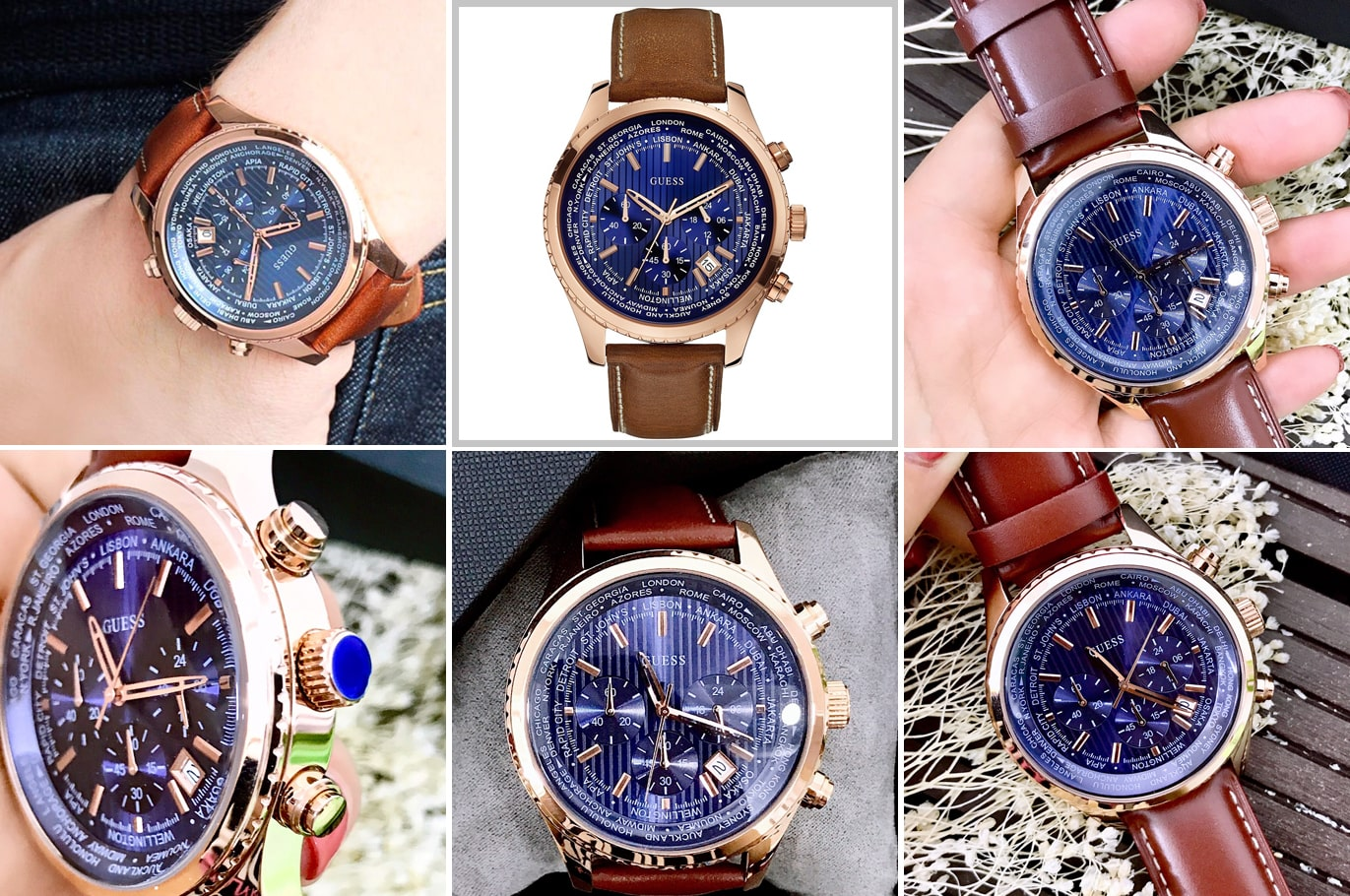 Hinh anh thuc te dong ho Guess W0500G1 Pursuit Blue Dial Men ms 13540