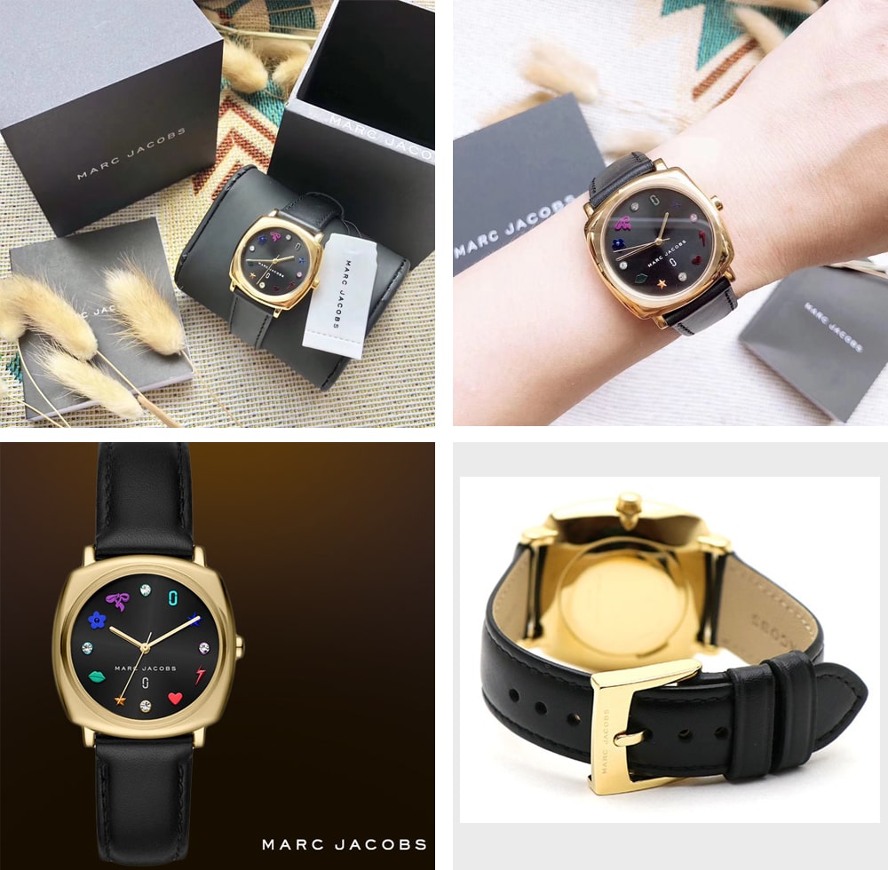 Hinh anh thuc te dong ho Marc Jacobs Ladies Mandy Leather Watch MJ1597 ms 095600