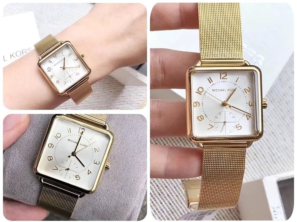 Hinh anh thuc te dong ho Michael Kors Brenner MK3846 gold watch ms 0967850