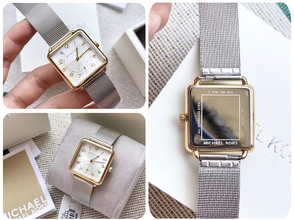 Hinh anh thuc te dong ho Michael Kors Brenner MK3846 two tones watch ms 0967850