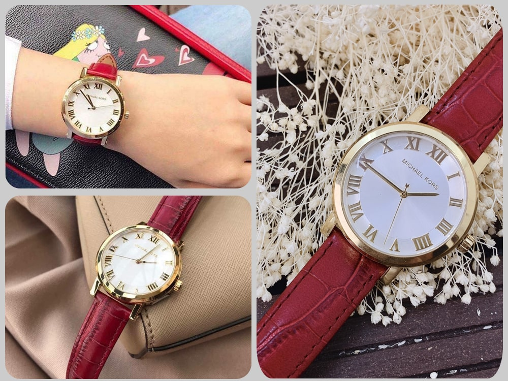 HInh anh thuc te dong ho Michael Kors Norie Red Watch MK2618 ms 086750