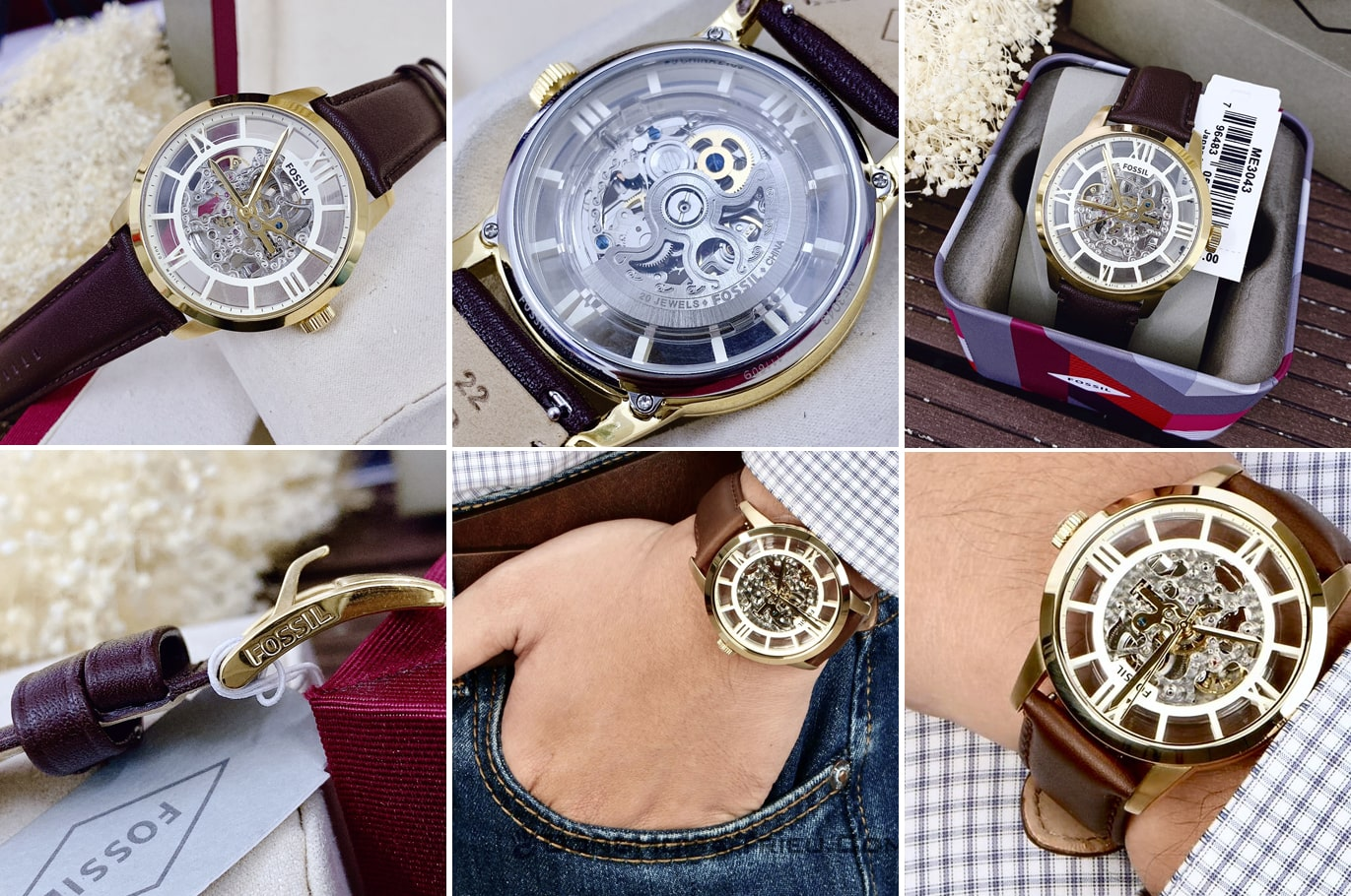 Hinh anh thuc te dong ho Fossil Townsman ME3043 Wrist Watch for Men ms 198700