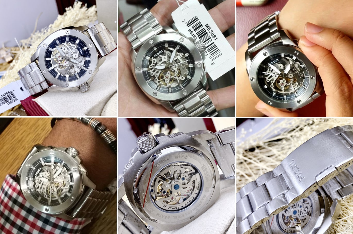 Hinh anh thuc te dong ho Modern Machine Automatic Skeleton Dial Mens Watch ME3081 ms 2045200