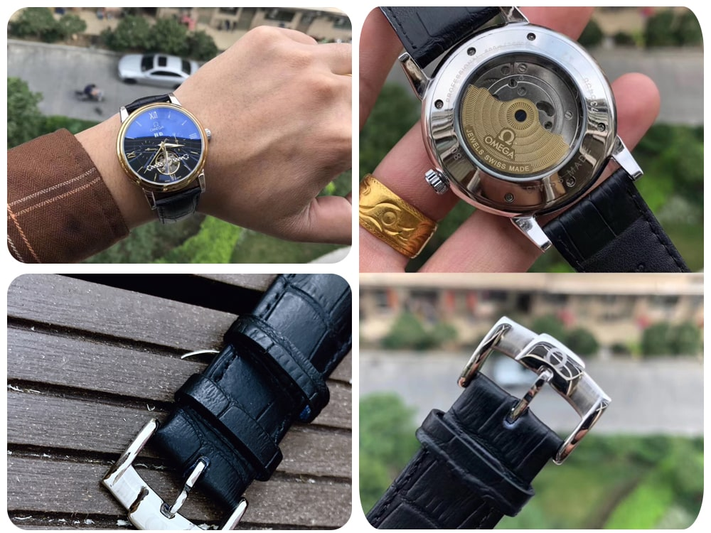Đồng hồ Omega cơ dây da -ms 116500: Giá 1,800,000đ