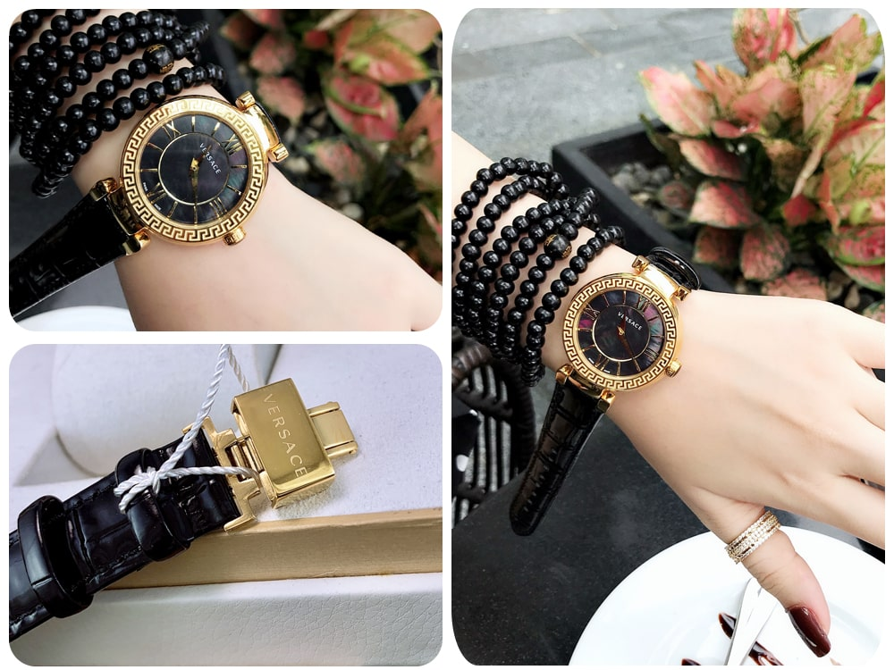 Hinh anh thuc te dong ho Versace Leather watch ms 096750